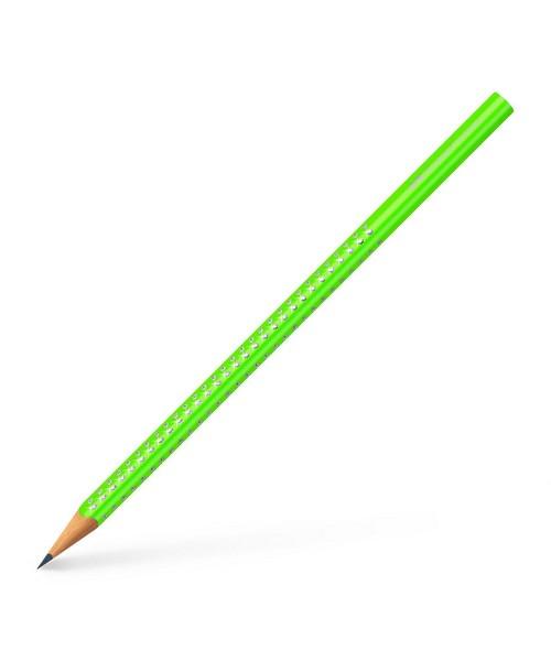 104011a638 ΣΧΟΛΙΚΑ ΕΙΔΗ  Μολύβι Faber Castell Sparkle Νέον Πράσινο